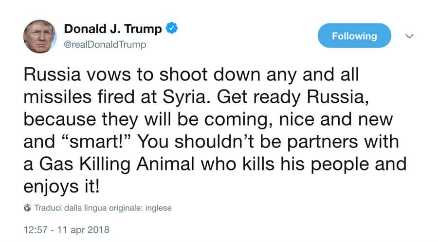 tweet-Trump guerra siria