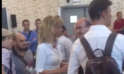 La ministra Barbara Lezzi contestata dai #notap all'Università del Salento (VIDEO)