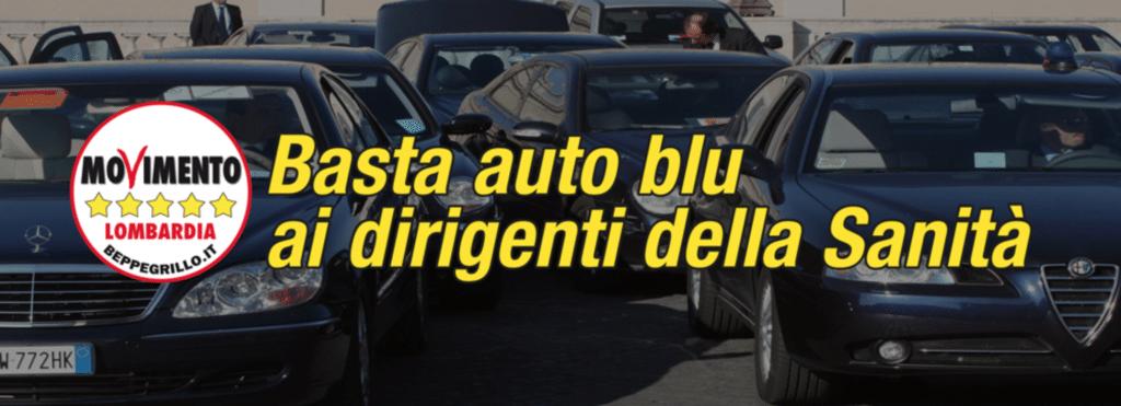 ESEMPIO PROPAGANDA M5S SU AUTO BLU